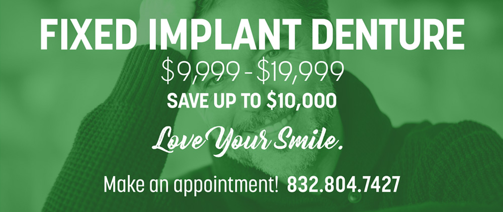fixed implant denture special offers in cinco ranch texas