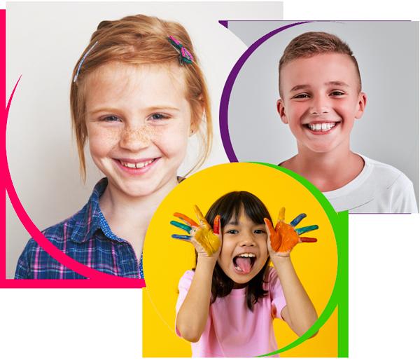 three children smiling, pediatric dentistry cinco ranch tx