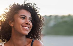 woman smiling, teeth whitening services cinco ranch texas, about lovett dental cinco ranch