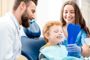 family learning about specialty dentistry in cinco ranch texas